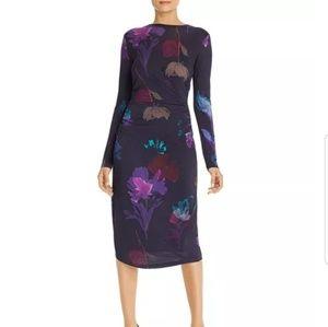 Hugo Boss Esetta Floral-Print Dress  Size XS